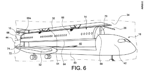 Airplane manufacturer Airbus has patented a modular system, where the cabin is detached from the plane during boarding.