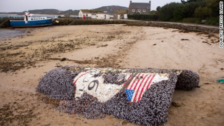 "The phrases ""Falcon 9"" are usually visible on the debris."