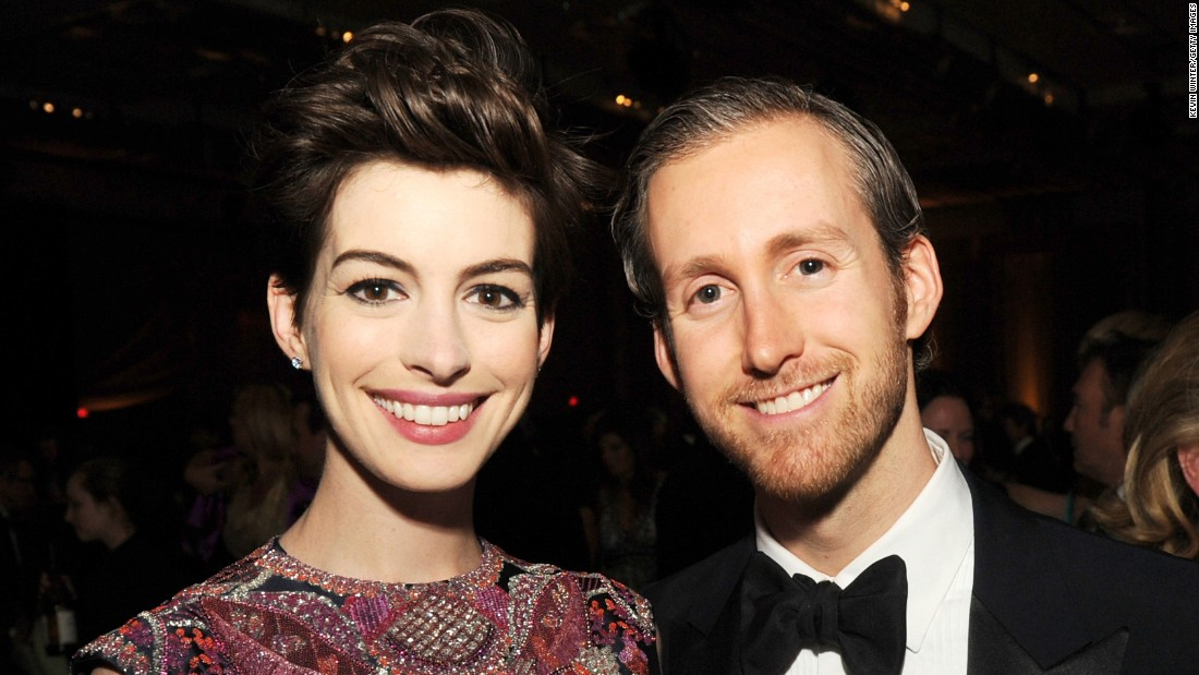 "Oscar-winning actress Anne Hathaway confirmed that she and husband Adam Shulman are expecting their first child <a href=""http://www.cnn.com/2016/01/05/entertainment/anne-hathaway-pregnant-instagram-feat/index.html"">in an Instagram post</a> Monday, January 4, showing off her baby bump. The couple wed in 2012."
