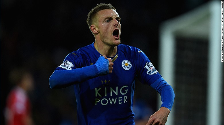 On New Years Day 2012, Jamie Vardy scored twice in a 6�0 win over Southport playing for Fleetwood Town in the Conference,yesterday he picked up a Premier League title with Leicester City after Chelsea and Tottenham drew 2-2.        Fleetwood sold Vardy to Leicester City for a reported fee of £1m...