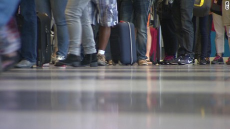 A CNN survey of major airports shows, for the most part, similar staffing levels of armed police.