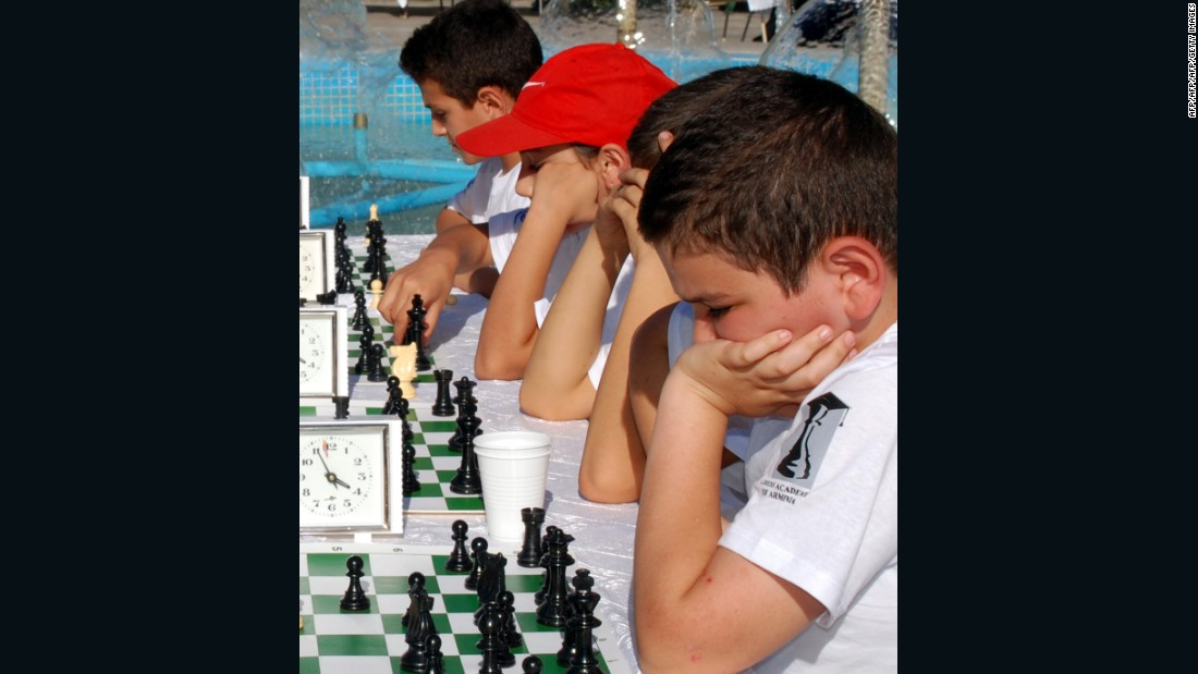 "Chess has been compulsory in all Armenian schools since 2011.<br />""Generally, it's good for children to learn any sport,"" said Aronian.<br />""But the advantage of chess is very specific, the fact that you're not challenged physically, so nobody has an advantage from the start."""