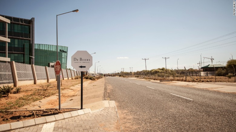 The entrance to the De Beers Global Sightholder Sales office in Gaborone, Botswana. De Beers moved its sales facility to the Southern African country in 2013.