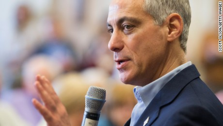 Chicago Mayor Rahm Emanuel talks using residents in a senior living middle within a campaign quit upon February 23, 2015 within Chicago, Illinois.