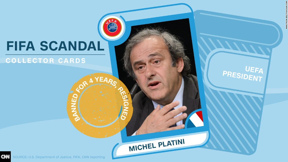 FIFA scandal collector cards Platini