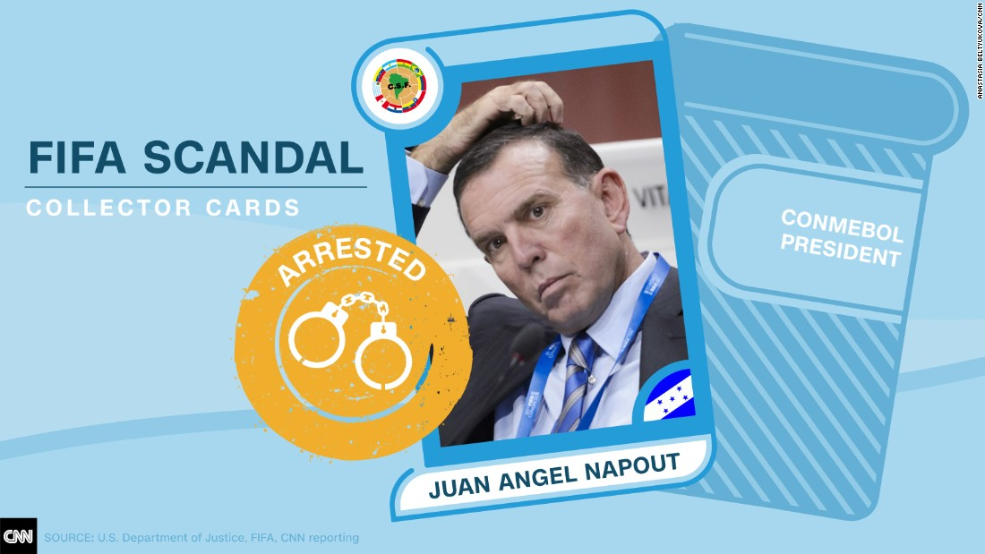 FIFA scandal collector cards Napout