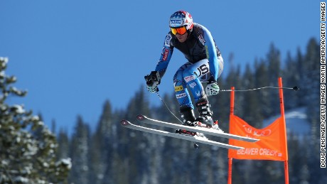 Bode Miller of the United States skis the course with a 3D point of view camera prior to downhill training for the Audi FIS Ski World Cup on the Birds of Prey on December 2, 2015 in Beaver Creek, Colorado.