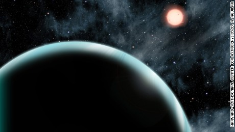 This artist's conception shows Kepler-421b, a Uranus-sized transiting exoplanet with the longest known year, circling its star once every 704 days. Kepler-421b orbits an orange, K-type star that is cooler and dimmer than our sun and is located about 1,000 light-years from Earth in the constellation Lyra.