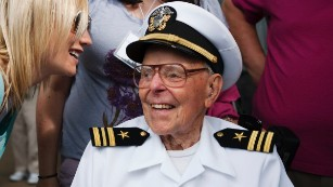 Joseph Langdell attended the 2011 Pearl Harbor memorial ceremony.