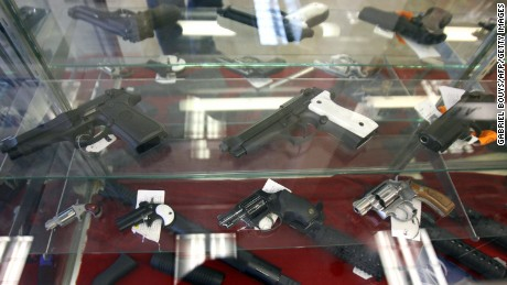 Weapons are for sale at the Gun Gallery in Glendale, California, 18 April 2007.