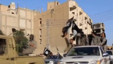 ISIS forces in Raqqa