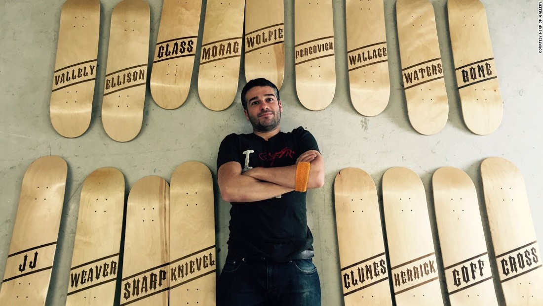 """A painful breakup inspired film and TV director Ben Gregor to """"sponsor"""" his loved ones and heroes -- skateboarding speak for giving them a board with their name on it. """"They've sponsored me in my life, so I'm sponsoring them back,"""" says Gregor."""