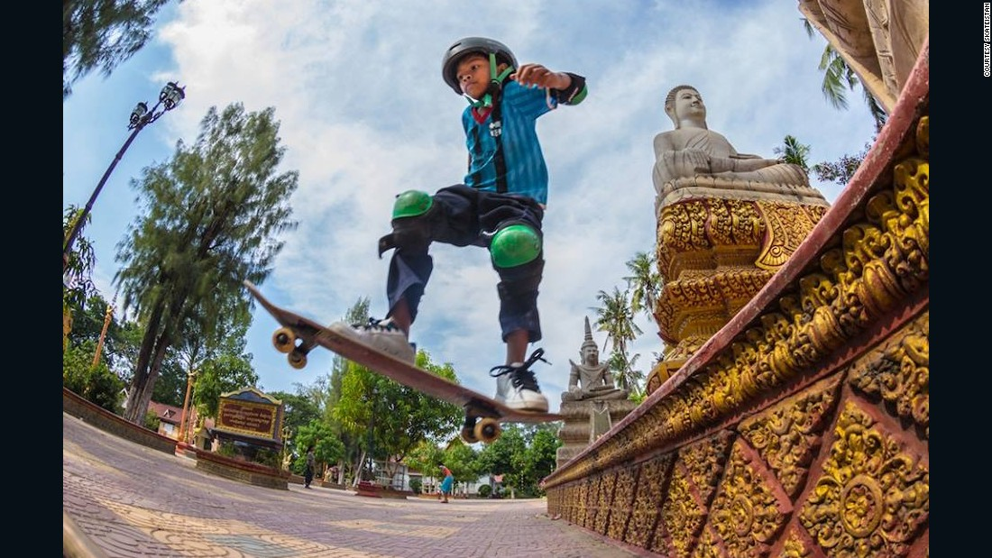 """In 2012 Skateistan opened its facility in Phnom Penh, Cambodia. It now works with 150-200 young people each week. """"Skateboarding is a resourceful culture,"""" says Gregor. """"You're making your world out of just a plank of wood with a couple of wheels on it."""" <br />"""