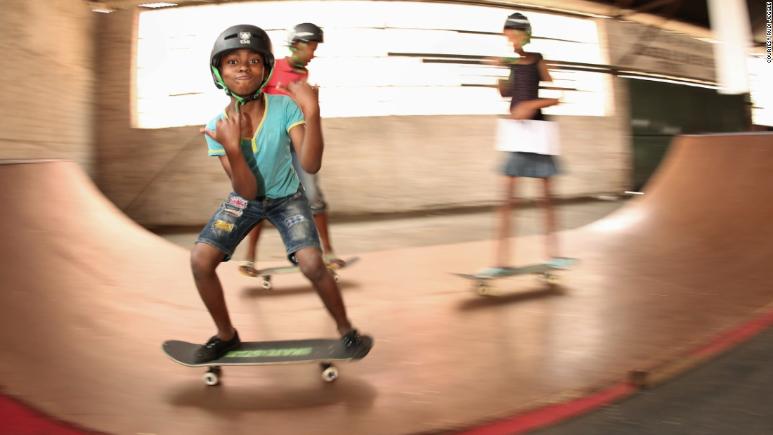 """The charity recently began building a skate park in Johannesburg, South Africa. """"We've got great teachers and youth leaders for students to look up to,"""" says Skatiestan's director Oliver Perkovitch. """"Skateboarding itself teaches important life skills, like creativity and problem solving and about never giving up."""""""