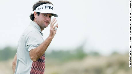 NASSAU, BAHAMAS - DECEMBER 06:  Bubba Watson of the United States makes birdie on the third hole during the final round of the Hero World Challenge at Albany, The Bahamas on December 6, 2015 in Nassau, Bahamas  (Photo by Scott Halleran/Getty Images)