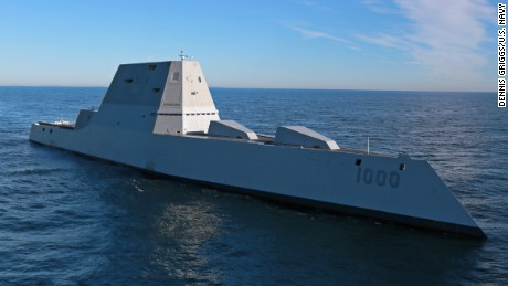 New stealth destroyer turned over to Navy