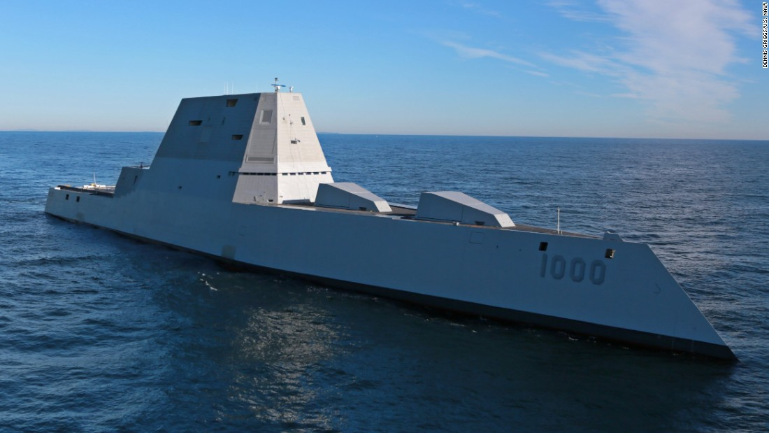 US Navy's Newest Stealth Destroyer Christened