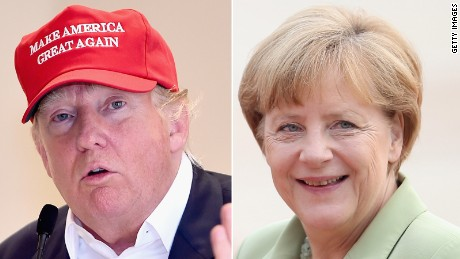 Trump says he admires Germany's Merkel, then rips her
