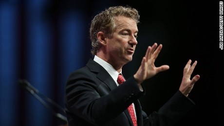 Republican presidential candidate Sen. Rand Paul (R-KY)  speaks during the Sunshine Summit conference being held at the Rosen Shingle Creek on November 14, 2015 in Orlando, Florida.