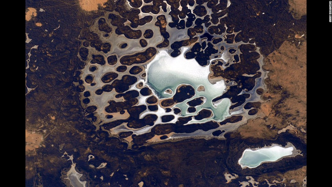 "April 27: ""Sometimes #Earth looks like another planet from @ISS."""
