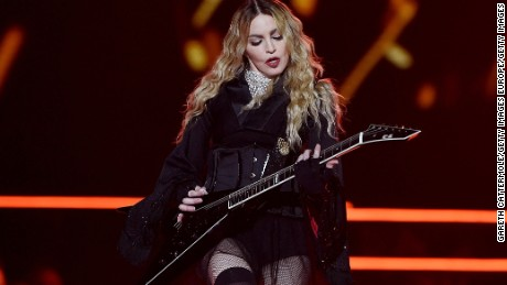 LONDON, ENGLAND - DECEMBER 01:  Madonna performs at the O2 as part of her 'Rebel Heart' world tour at The O2 Arena on December 1, 2015 in London, England.  (Photo by Gareth Cattermole/Getty Images)