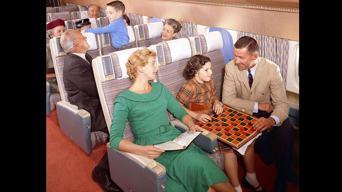 Back then, it seems, everyone loved children on flights. Maybe when the only alternative was chess and cards, people genuinely enjoyed being around their offspring. Maybe the drinks trolley hadn't been by yet.