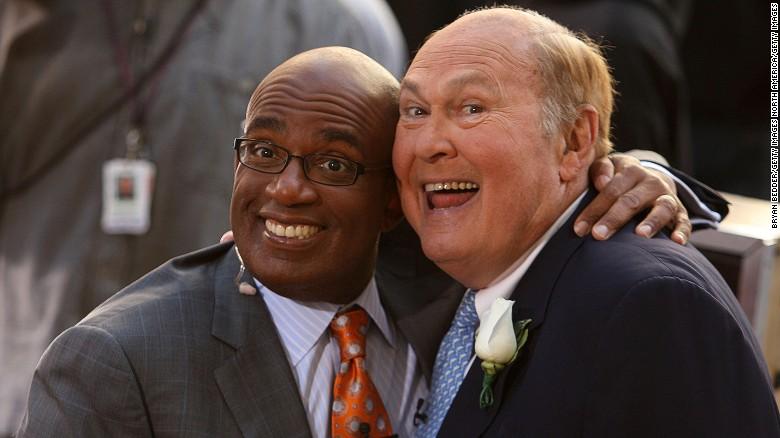 """Willard Scott, right, with his """"Today"""" successor Al Roker in 2009."""