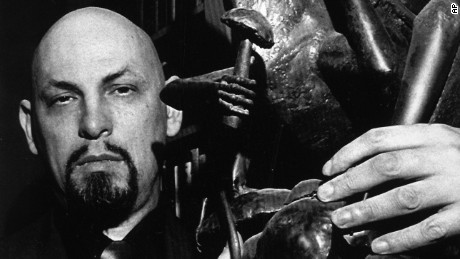 Founder of the Church of Satan, Anton LaVey, is seen at home in San Francisco, 1983.  (AP Photo)