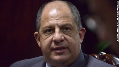 Costa Rican president Luis Guillermo Solis gestures during an interview with the AFP at the presidential house, on January 26, 2015.AFP PHOTO/Ezequiel BECERRA.        (Photo credit should read EZEQUIEL BECERRA/AFP/Getty Images)