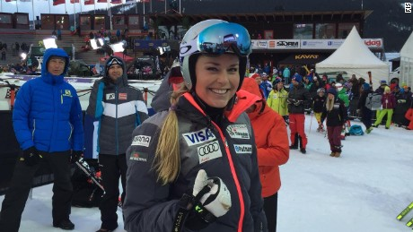 Lindsey Vonn had plenty to smile about in Sweden after a fourth straight World Cup victory.
