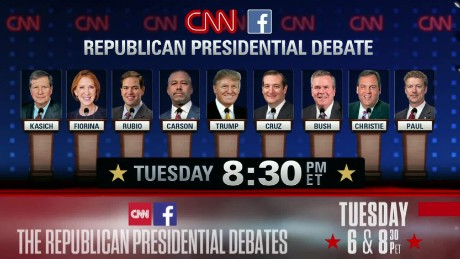 CNN announces stage order for Republican debate