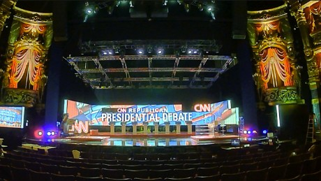 See the stage being set at the CNN GOP Debate