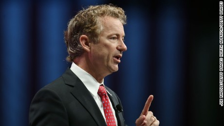 ORLANDO, FL - NOVEMBER 14:  Republican presidential candidate Sen. Rand Paul (R-KY)  speaks during the Sunshine Summit conference being held at the Rosen Shingle Creek on November 14, 2015 in Orlando, Florida.  The summit brought Republican presidential candidates in front of the Republican voters.  (Photo by Joe Raedle/Getty Images)