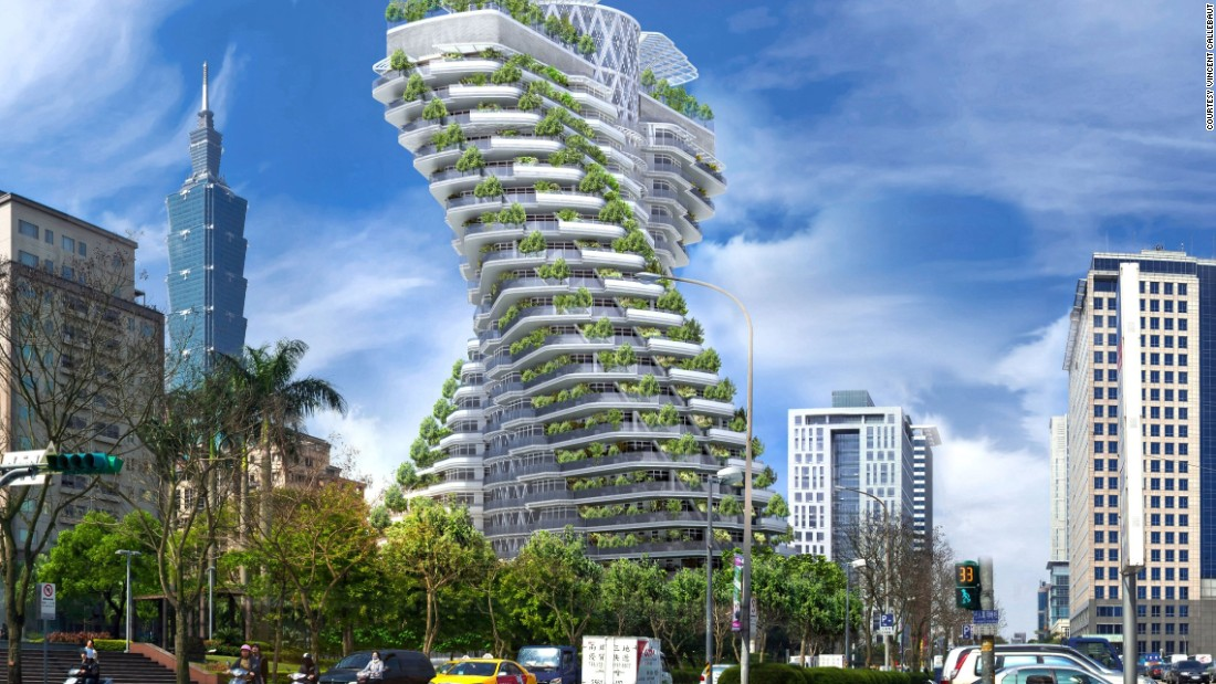 "Vincent Callebaut, a self-proclaimed ""archibiotect"" made waves when he first put forward his designs for the Tao Zhu Yin Yuan tower -- also known as the Agora Garden tower -- in 2010. The twisting tower  aims to be one of the world's most eco-friendly structures. It has several of its own gardens and forests to sustain those who reside within, recycles all organic waste and used water and is heated using solar power."