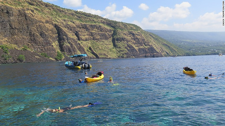 Kealakekua Bay: Weird though it may be to think, Captain James Cook was killed in a pretty beautiful spot.