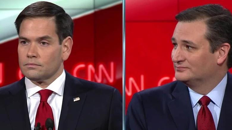 Marco Rubio attacks Ted Cruz's voting record