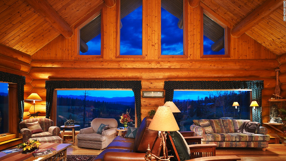 Elite Escapes Bc Lodges on log cabin fire