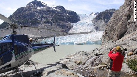 Jacobsen Glacier in British Columbia as accessed via West Coast Helicopters and Tweedsmuir Park Lodge. Photo July 2015