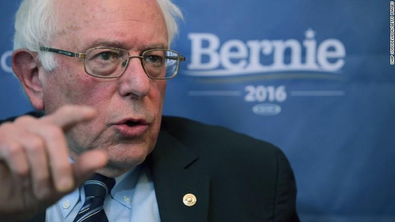 Democratic presidential candidate Sen. Bernie Sanders (I-VT) participates in an internet live stream discussion.
