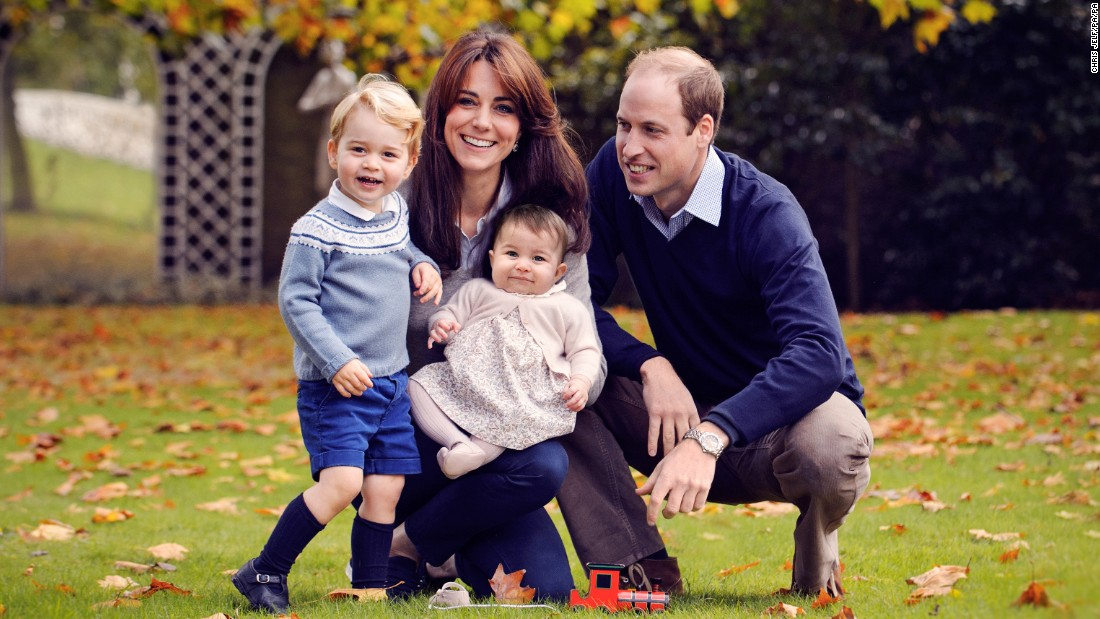 Britain's Prince William poses with Catherine, the Duchess of Cambridge, and their children, Prince George and Princess Charlotte, during a family Christmas photo released on Friday, December 18.