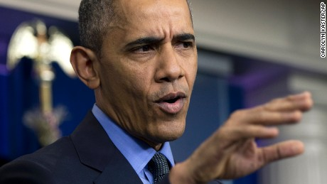 President Barack Obama speaks during a news conference in the Brady Press Briefing Room at the White House in Washington, Friday, Dec. 18, 2015. (AP Photo/Carolyn Kaster)