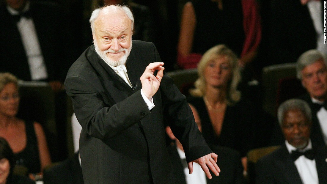 "<a href=""http://www.cnn.com/2015/12/19/living/kurt-masur-philharmonic-conductor-dies-feat/index.html"" target=""_blank"">Kurt Masur</a>, the legendary German music conductor credited with transforming the New York Philharmonic into an orchestra of international renown, died December 19. He was 88."