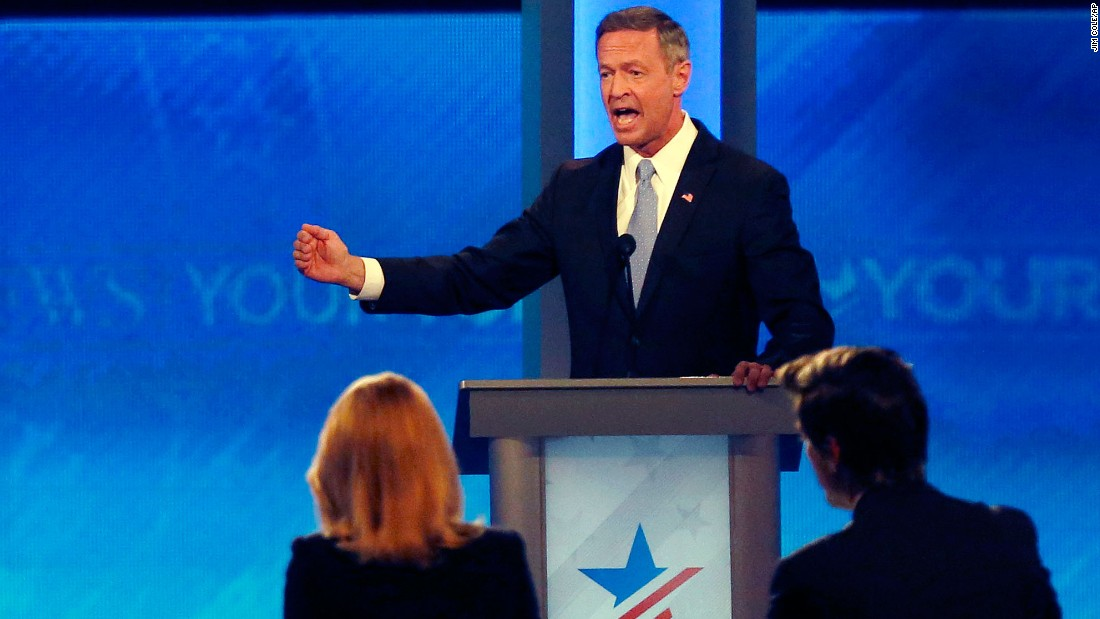 O'Malley speaks during the debate.
