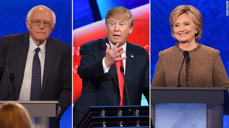 CNN poll: Clinton crushing Sanders, even with Trump
