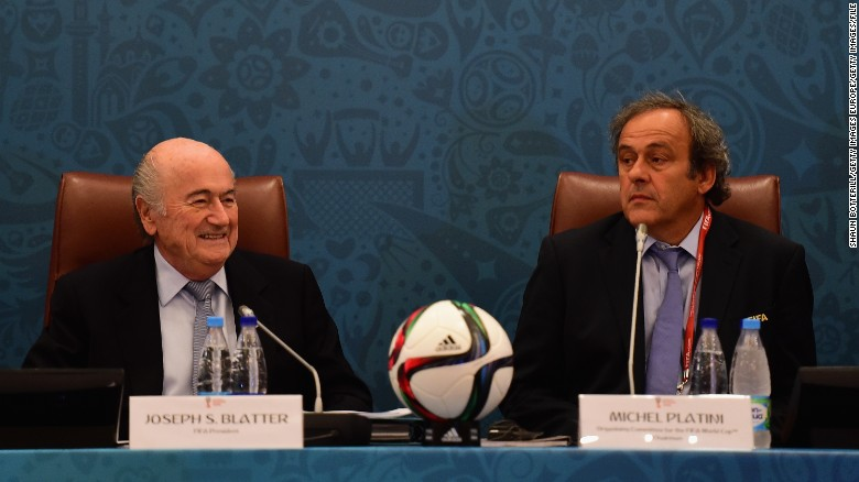 December 21 2015: FIFA President Sepp Blatter and UEFA President Michel Platini are banned by FIFA's Ethics Committee for eight years. The ban relates to all football-related activity and is effective immediately.