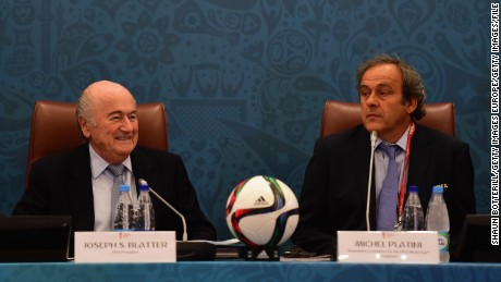December 21 2015: FIFA President Sepp Blatter and UEFA President Michel Platini were banned by FIFA's Ethics Committee for eight years. The ban relates to all football-related activity and comes into effect immediately.