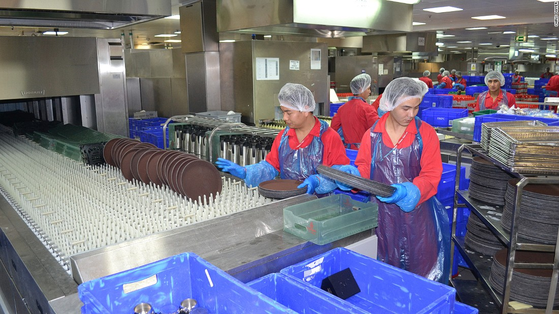 Three million items of dirty equipment are sorted and cleaned each day. Each year, the facility goes through 4 million hairnets and 23 million plastic gloves.