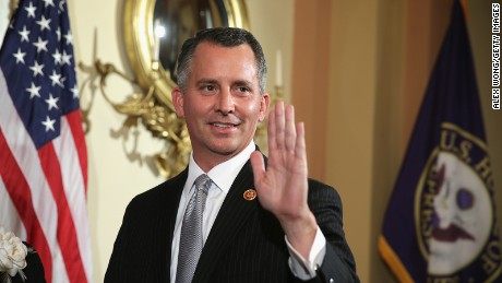 U.S. Representative-elect David Jolly (R-FL) participates in a ceremonial swearing-in photo opportunity March 13, 2014 on Capitol Hill in Washington, DC.