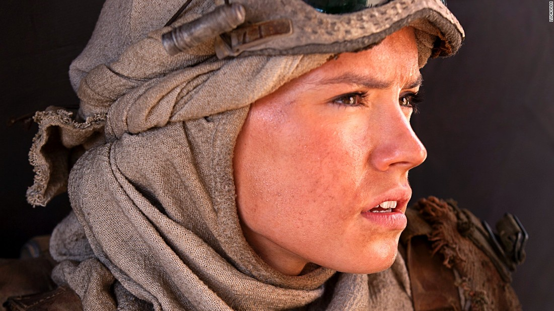 "<strong>Rey</strong> (Daisy Ridley), a young scavenger on the desert planet of Jakku. The role is Ridley's first film, after minor appearances in British TV dramas including ""Casualty"" and ""Silent Witness."" Not all her parts have been glamorous; in one, she played a corpse."