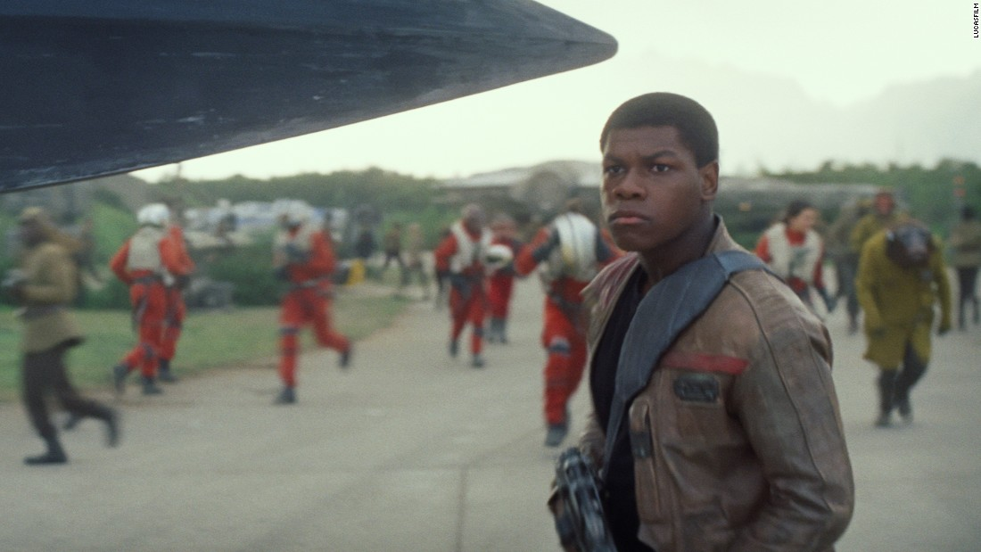 "<strong>Finn</strong> (John Boyega), a disillusioned member of the First Order. Boyega is no veteran of the silver screen but did have a hit with sci-fi comedy ""Attack the Block"" in 2011, a performance that drew the attention of ""The Force Awakens"" director J.J. Abrams."